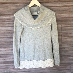 Anthropologie whipstitch boucle sweater